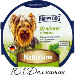 Консерва для собак Happy Dog NaturLine Ягненок с Рисом