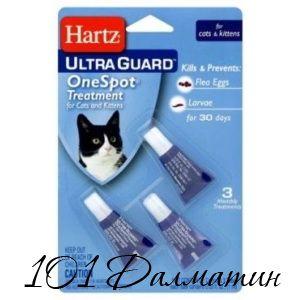 Капли Hartz для кошек от личинок и яиц блох