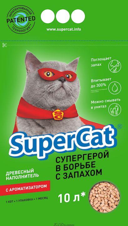 Наполнитель SuperCat с ароматизатором (зеленый)