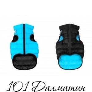 Двусторонняя курточка для собак Airy Vest черно-голубая