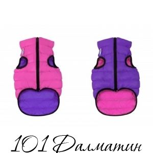 Двусторонняя курточка для собак Airy Vest розово-фиолетовая