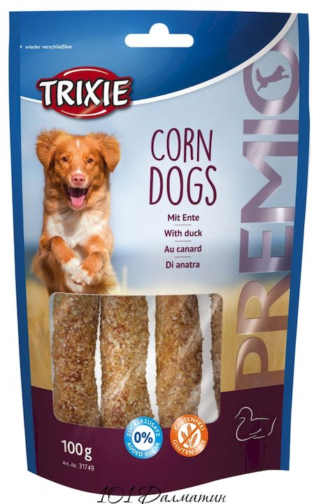 """Лакомство """"PREMIO Corn Dogs"""" утка"""