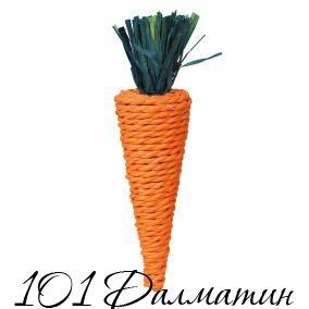 Игрушка для грызунов Морковь сизаль 20см
