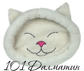 """Лежак для кота """"Mijou"""" 48*37см морда кошки крем"""