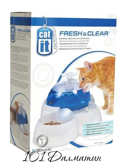 Поилка-фонтан с кормушкой CATIT 3-х уровненная для кошек 3л