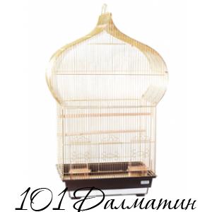 "Клетка для птиц ""Jasmine"" (золото)  46,5х36х88 /4"