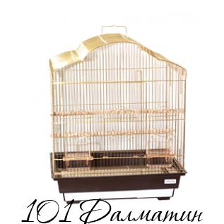 """Клетка для птиц """"Violet"""" (золото) 46,5х36х56 /4"""