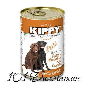 Киппи паштет для собак  курица, индейка, морковка