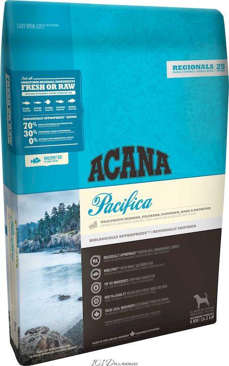 Акана для собак Pacifica с рыбой