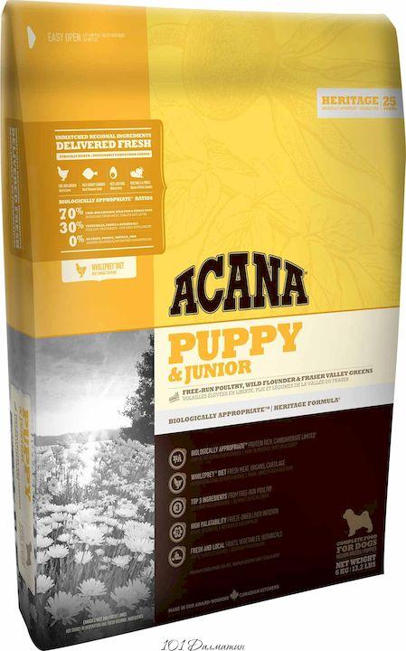 Акана Паппи и Джуниор для щенков средних пород