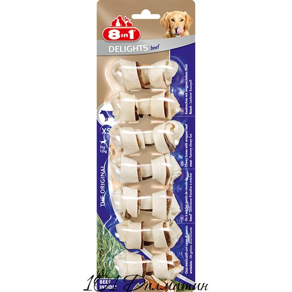Кость Delights для собак с мясом 8в1 размер XS