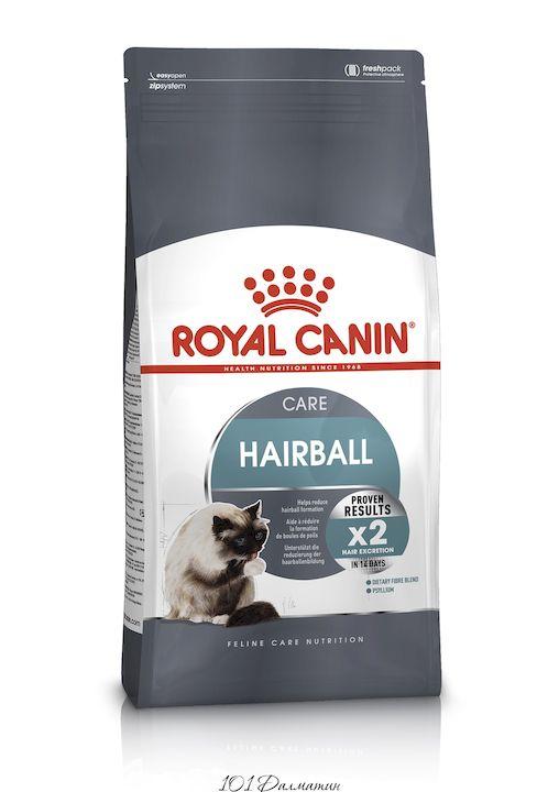 Роял Канин Корм для кошек Hairball при недостаточном выведении волосяных комочков