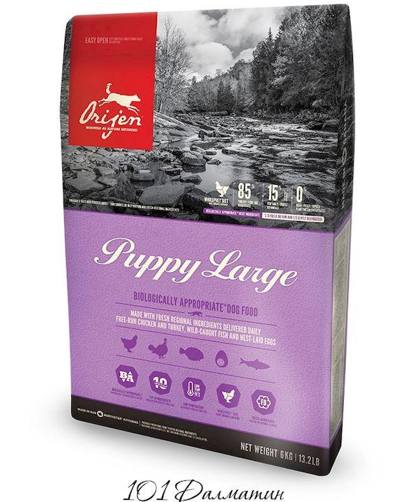 Ориджен PUPPY LARGE корм для щенков крупных пород