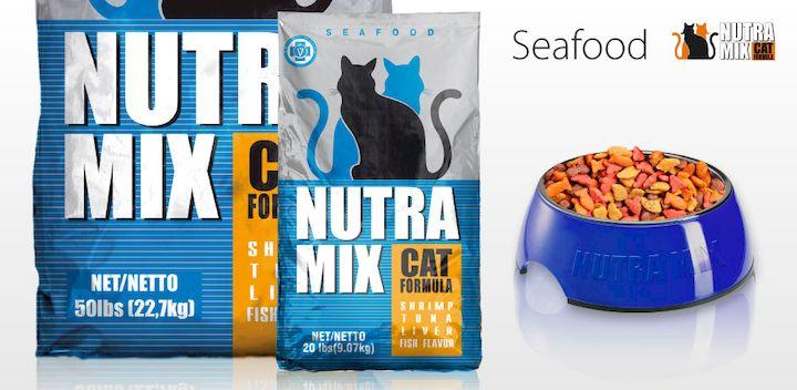Нутра микс для кошек с морепродуктами. Nutra Mix Seafood