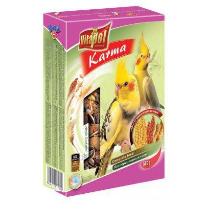 Корм Vitapol для средних попугаев 500г