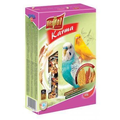 Корм Vitapol для волнистых попугаев в картонной упаковке 500г