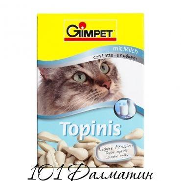 Витаминные «мышки» с таурином и молоком с ТГОС для кошек Gimpet «Topinis»