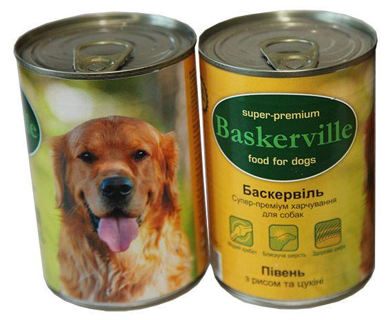 Баскервиль Курица с рисом и цукини Консерва для собак