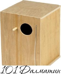Домик для птиц большой 24,5х17х17см