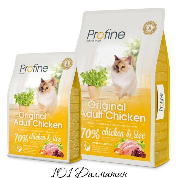 Профаин ADULT натуральное куриное мясо и рис для котов и кошек всех пород