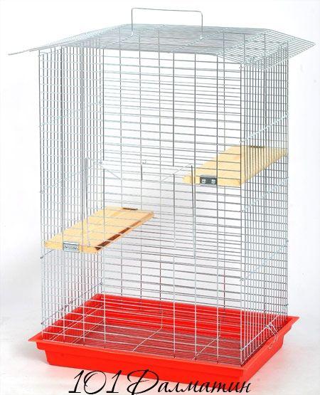 """Клетка для шиншиллы"""" ШИНШИЛА-люкс"""" (565х400х850) цинк"""