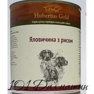 Консерва для собак Говядина с рисом ХубертусГолд