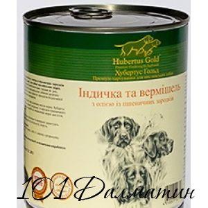 Консерва для собак Индейка с лапшой ХубертусГолд
