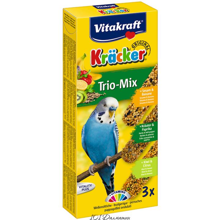 Крекер для попугаев инжир банан киви (3шт)