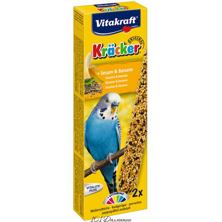 Крекер для попугаев банан и кунжут (2шт)