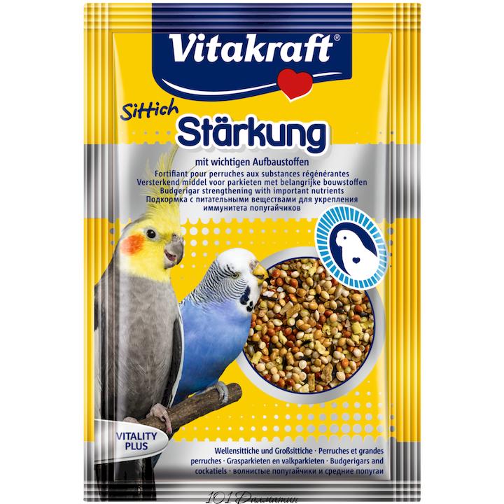 Витаминная добавка с биотином для попугаев улучшает аппетит 30гр
