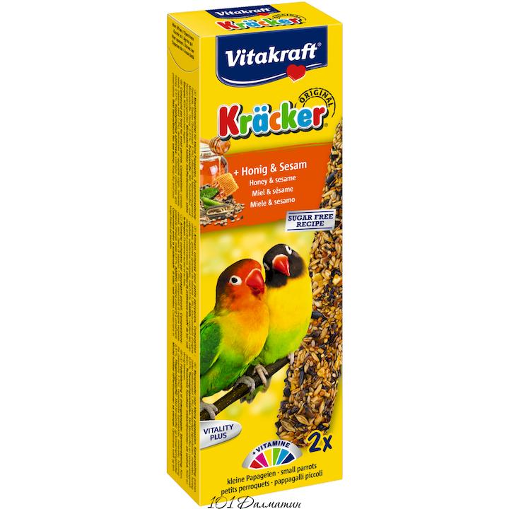 Крекер для маленьких африканских попугаев медовый (2шт)