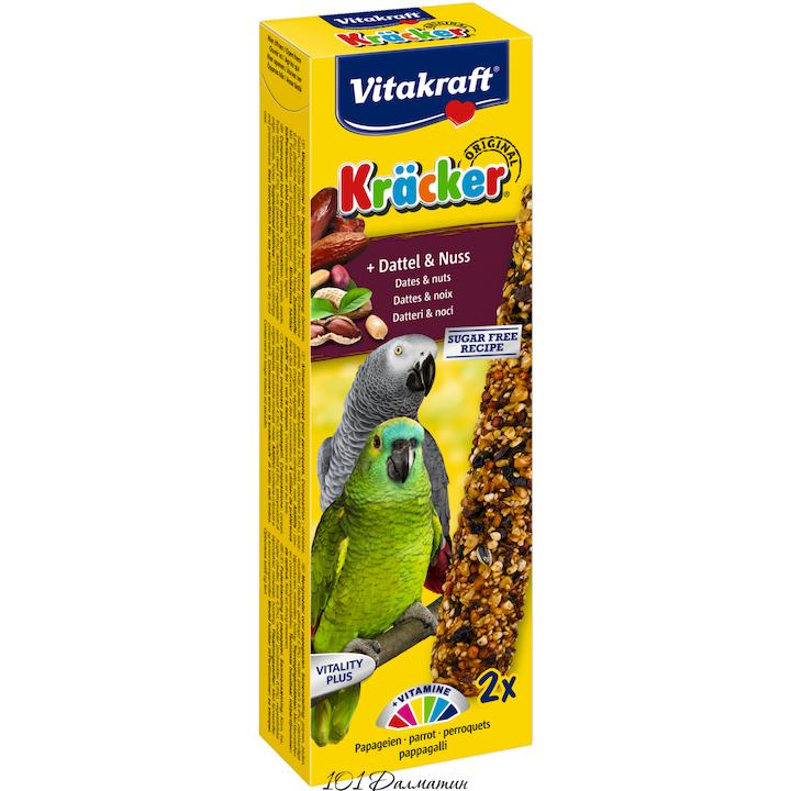 Крекер для африканских попугаев фрукты и орех (2шт)