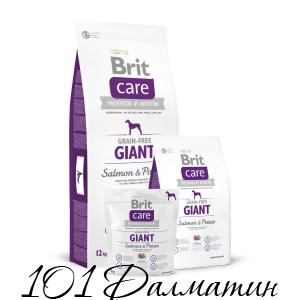 Brit Care с лососем для взрослых собак гигантских пород