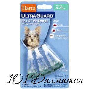 Капли от блох для собак Харц
