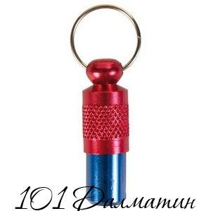 Капсула на ошейник с адресом (красно-синяя)