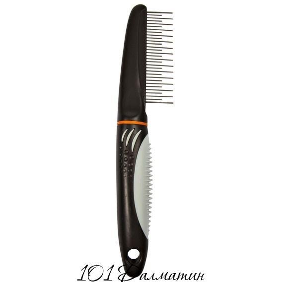 Расчёска с вращающимися зубцами для длинношёрстной собак (пластиковой ручка)