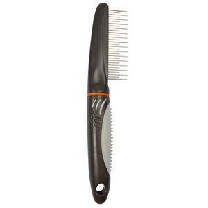 Расчёска разно зубная (пластиковая ручка)