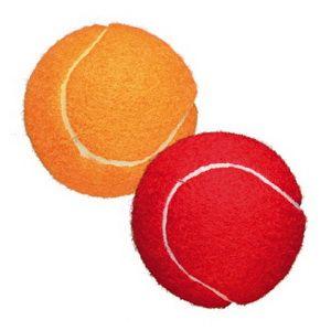 Мяч теннисный 2шт 6см в сетке