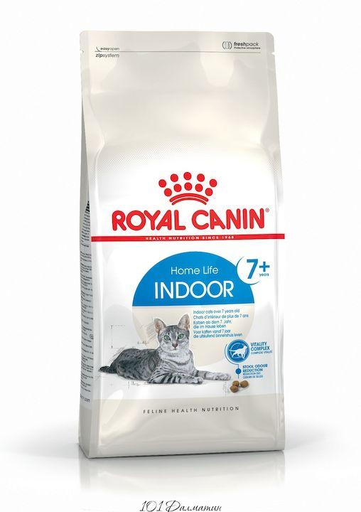 Роял Канин Корм для кошек Indoor 7+ сидящих дома пожилых кошек с 7 лет