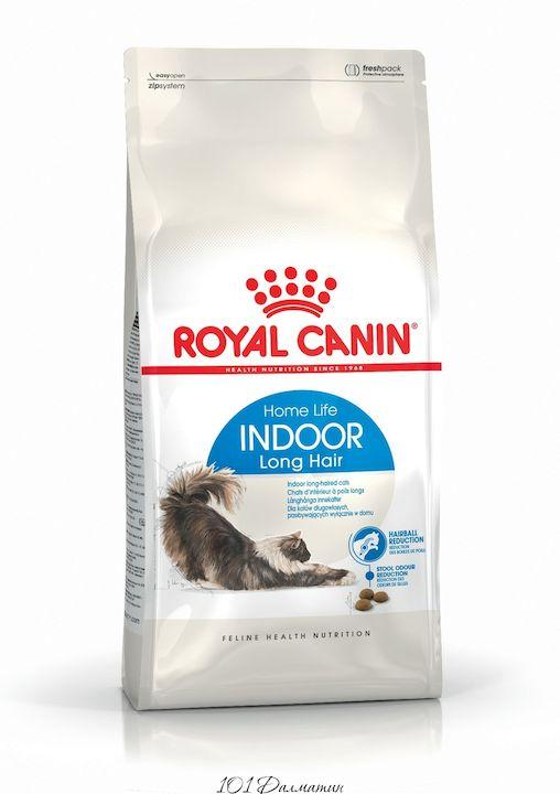 Роял Канин Корм Indoor Longhair для длинношерстных кошек от 1 до 7 лет