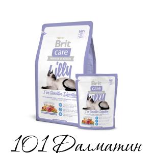 Брит Каре Lilly для кошек чувствительное пищеварение Ягненок и Лосось