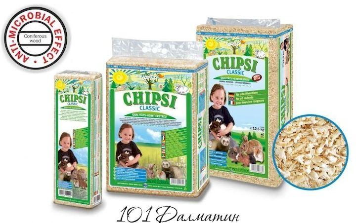 Опилки для грызунов Rettenmaier Chipsi классик