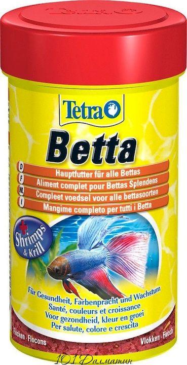 Корм Tetra Betta для аквариумных Петушков в хлопьях