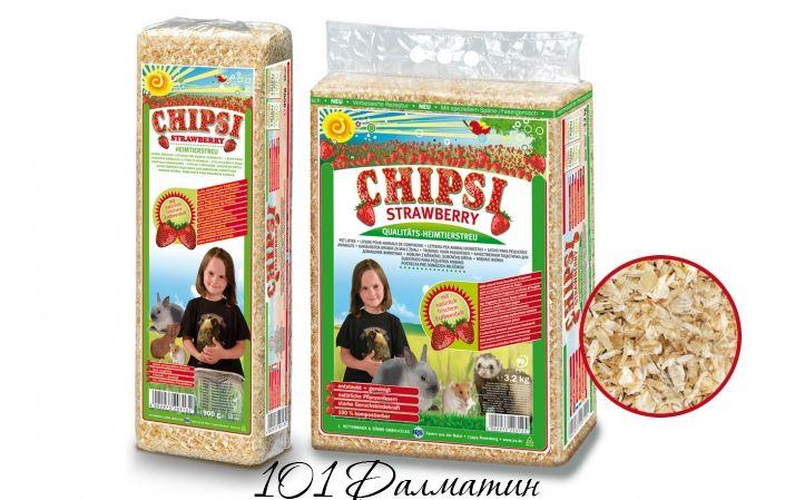 Опилки для грызунов Chipsi клубника