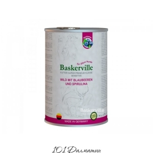 Baskerville Sensitive Оленина с черникой и спирулиной