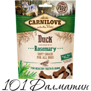Лакомства Carnilove Dog Semi Moist утка, розмарин для собак, 200g